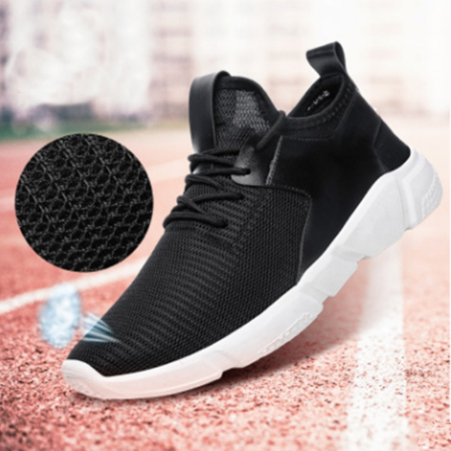 Men 's sports Fashion Sneakers comfortable casual shoes running shoes Black 42