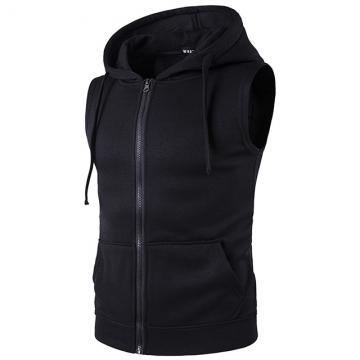 2017 new men's cap zipper pocket vest with vest Black S