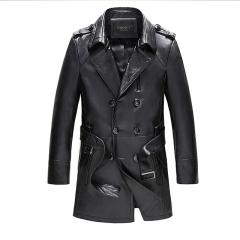 New leather windbreaker jacket black m