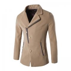 New autumn and winter men's windbreaker jacket Khaki m