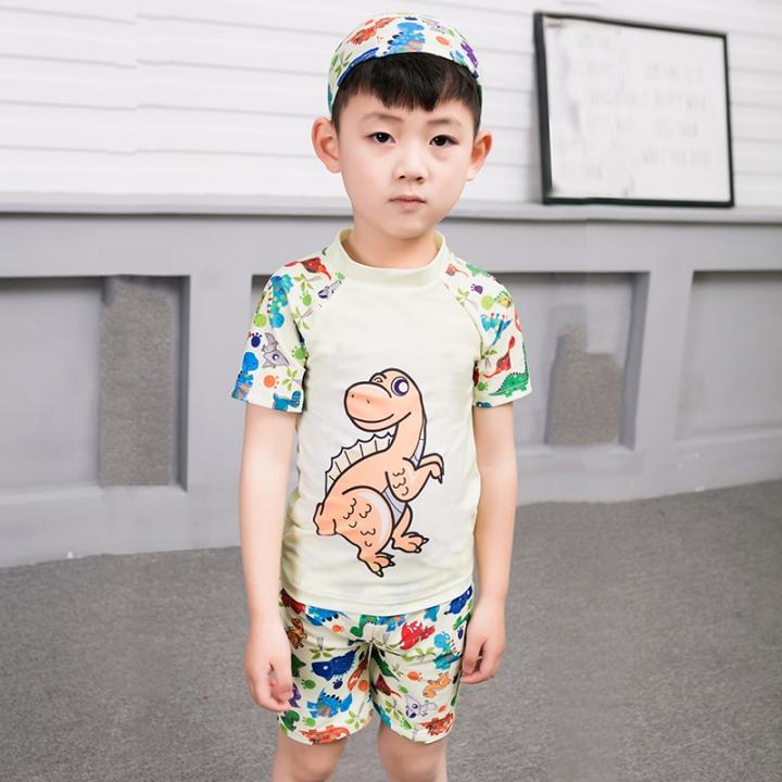 c1cef57566 2-13Y Child Little Boys Two Piece Swimsuit Swimwear Kids Boy Bathing Suit  yellow 4XL