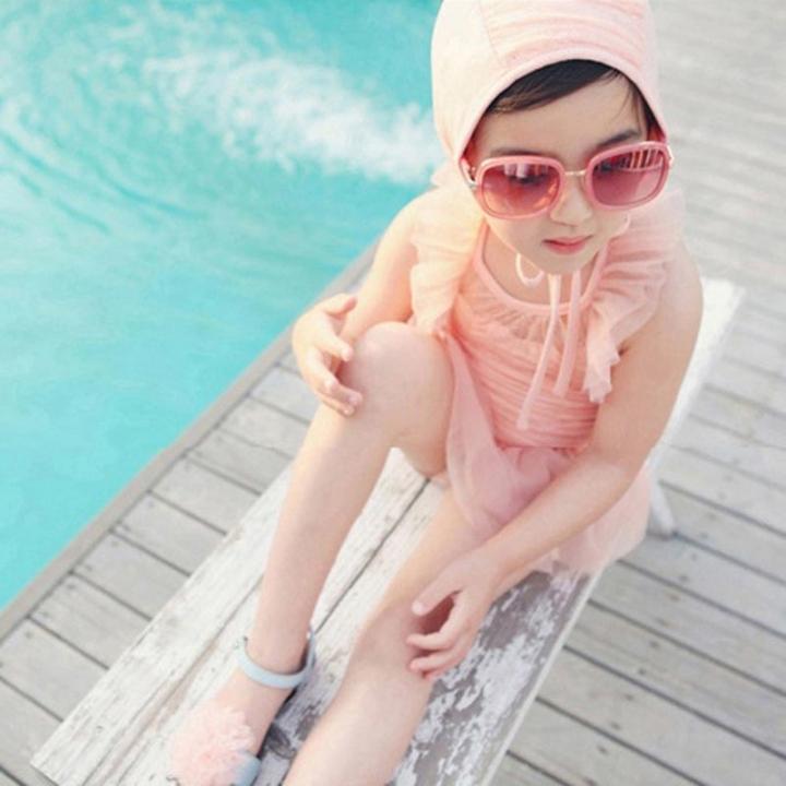 7c61deae1e 2-13Y Kids Little Girls Swimsuit Swim Dress Summer Child One Piece Swimwear  as picture
