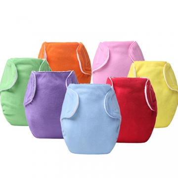 5pcs/lot Reusable Nappies Newborn Washable Baby Cloth Diapers Children Baby Diapers Breathable Nappy mixed colors free size