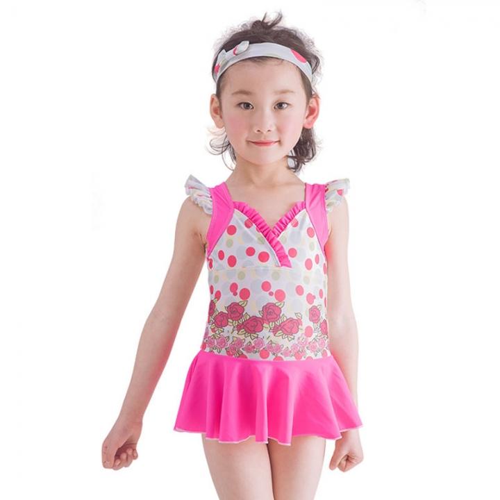 b8c48bc28 1-10Y Kids Girl Swimwear Swimsuit Summer Swim Princess Dress Swan Child  Baby Girls Bathing