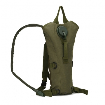 3L Water Bag Military Tactical Hydration Backpack Outdoor Waterproof Camel Water Bag Cycling DARK GREEN one size