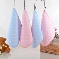 4pcs/lot Cotton Baby Bibs Saliva Towel Soft Infant Baby 6 Layer Feeding Towel Burp Bib random color one size