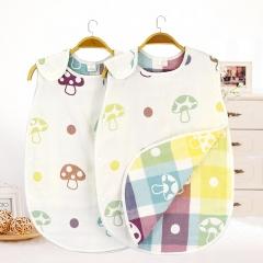 Baby Sleeping Bag Newborn Sleeveless Swaddle Blanket Wrap Cute Bedding Baby Boy Sleepsacks mushroom M
