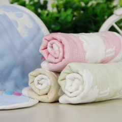 5pcs/lot Baby Bandana Cotton Baby Bibs 8 Layer Infant Toddlers Saliva Towel random color one size