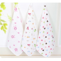 10pcs/lot Baby Bibs Cotton Newborn Boy Girls Soft Scarf Infant Saliva Towel Bandana Feeding Bibs  random color one size