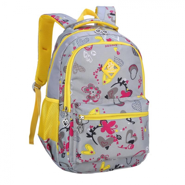 Oxford Children Girl School Bags Backpacks Primary Students Travel  Schoolbag Kids Cartoon Bags -Grey Grey b0da37e42ea33