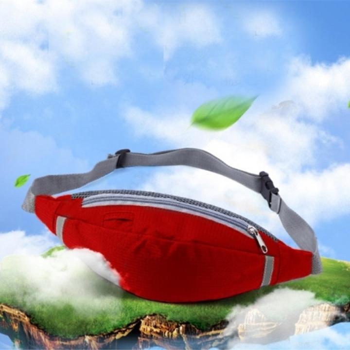 4c327787da Waist Bags Running Pack Women Waist Pouch Belt Bag Men Purse Phone Pocket  Case Hiking Sports Bag red One Size