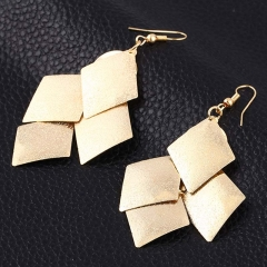 Geometric Pendants Women Drop Earrings Punk Leaf Tassel New Jewellery Earrings gold one size
