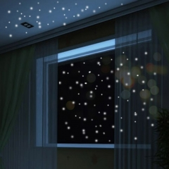 407pcs Glow In The Dark Star Wall Stickers Round Dot Luminous Kids Room Decor as photo one size