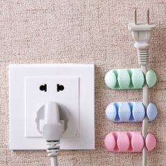 2Pcs Headphone Headset Wire Wrap Cord Winder Organizer Cute Cable Fixed Storage Cable Collector random color