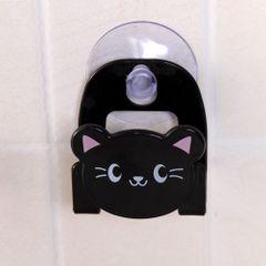 Carton Towel Soap Dish Holder Cloth Sink Dish Sponge Storage Suction Hanger Dinning black