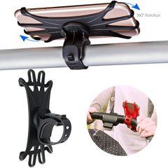 Mobile Phone Holder Rack Universal 360 Rotatable Baby Pram Cart Phone Holder black one size