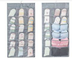 Storage Underwear Hanging Bag Organizer Socks Containers Foldable Bag grey