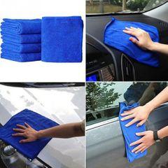 10pcs 30 X 30cm Cloths Cleaning Duster Microfiber Car Towel BLUE One size
