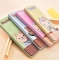 G2G 1 Pencil Box Containing Iron Simple Creative Cute Female Male Children Gift Pen Prize Pupils Yellow