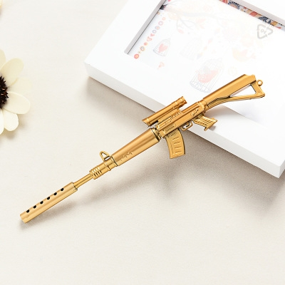 G2G 0.38mm Black ink sniper rifle Student stationery wholesale cute creative water pen Gold as picture