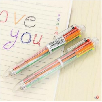 G2G 6 color ballpoint pen simple idea multicoloured practical business office stationery supplies