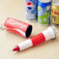 G2G Cute creative stationery wholesale cola pen drink retractable pen key chain Pepsi-cola 5.3cm*2.5cm