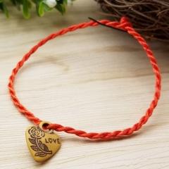 G2G  Bracelet Red Rope Bangle Lucky Bracelets on the Leg for Women Cord String Line Handmade Jewelry red 19cm