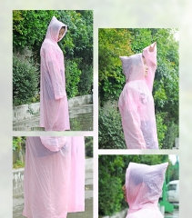 G2G 1 Children's adult raincoats and outdoor travelling rain and rain waterproof coat and rain gear pink+XL