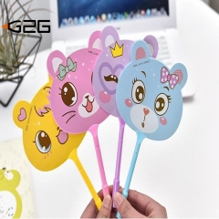 G2G 0.5 mm black oil pen Creative fan pen stationery school supplies wholesale cute ballpoint pen As Picture 1