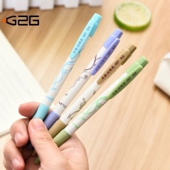 G2G 1piece 0.5mm Blue ink Press the ballpoint pen stationery wholesale to study office supplies