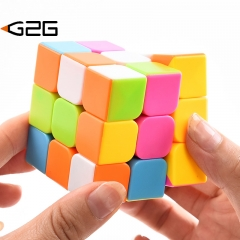 G2G 1piece 3X3X3 Professional Speed Cube Puzzle Stickers Kids Brain Teaser Magico Toys Children gift