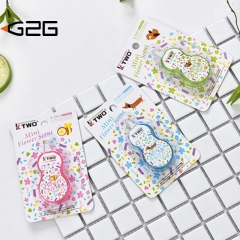 G2G 1piece Creative and transparent cartoon correction tape Office stationery packaging tape map1 5*5cm