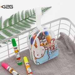 G2G 1set children  washable 12-color watercolor pens tag painting graffiti Colour pencil stationery 12 color one size