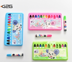 G2G1setchildren can  washed with 12 color watercolor pen seal set graffiti Colour pencil stationery 12 color one size