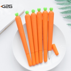 G2G 1pcs 0.5mm cartoon carrot shape signature pen Students' learning stationery as pictrue one size