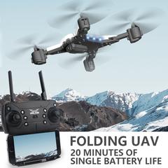 G2G A plane KY601S new fashion With cameras Long life folding WIFI figure pass Remote control uav Black no camera