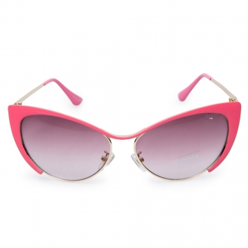 Chic Butterfly Wings Shape Frame Sunglasses For Women default DEEP PINK