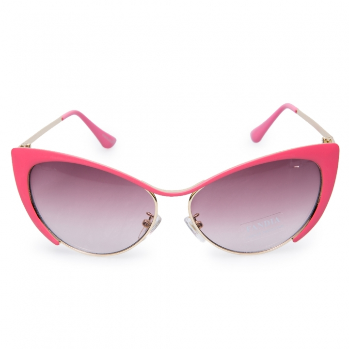 Chic Butterfly Wings Shape Frame Sunglasses For Women default GUN METAL