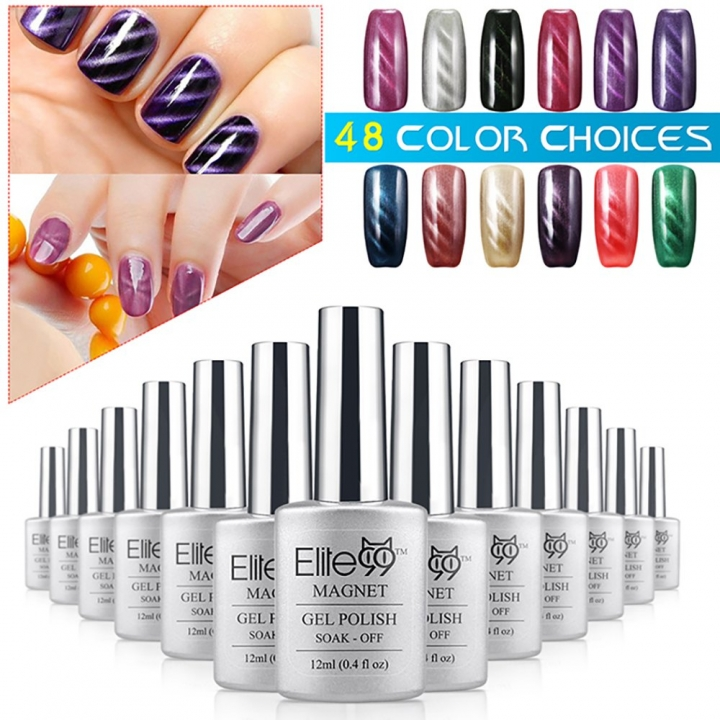 Elite99 Changing Color Soak Off UV Varnish Long-Lasting Nail Polish 12ml default SHIMMER TEAL