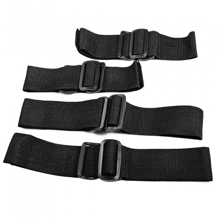 Fetish Nylon Braid Wrist Ankle Cuffs Restraints Bondage Belt Leg Open Sex Toy for Couples default BLACK