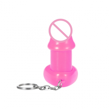 ROOMFUN Cock Key Ring Sex Decoration Realistic Elastic Penis Adult Product default ROSE MADDER
