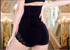 High-elastic Beauty Slimming Burn Fat Spanx high waist tummy control body shaper pants black xl