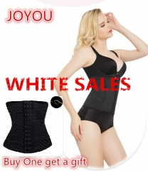 WHITE SALES-FeelinGirl Women Hot Body Shapers Slim Waist Tummy Girdle Belt Waist Cincher Underbust black m