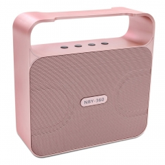 NBY powerful 10w bluetooth speaker boombox wireless portable bass loud rose gold 10w 360