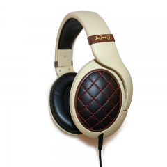 JayJero J5 Professional wired over ear Dj Studio Designer Headset Headphones Beige with Gold pouch beige