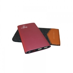 JayJero J2+ 'Shake to turn on' high capacity big slim Power Bank plus Pouch. 18000maH pink 18000