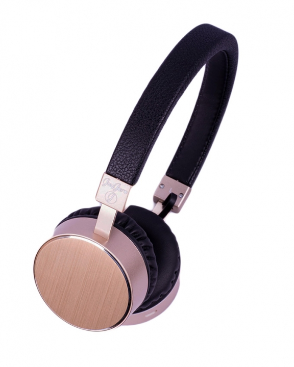 JayJero bt009. Metal bluetooth headphones wireless heavy bass stereo loud durable gold