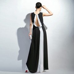 Chiffon Casual Women Dress Split Cross Summer Sleeveless Beach Maxi Dress M