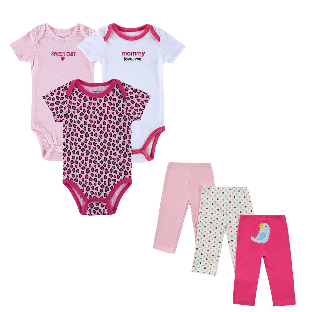 440ddf345eff 6 Pcs lot Baby Clothing Sets Summer Outfits Baby s Sets Print Baby ...