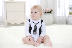 Unisex  Baby Rompers 0-12M Novel Newborn Boys&Girls Roupas de bebe Baby Jumpsuits Clothes white 0-3m